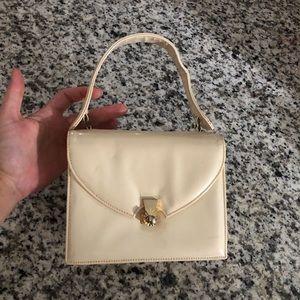 Rosart Vintage Cream Patent Leather Handbag Top